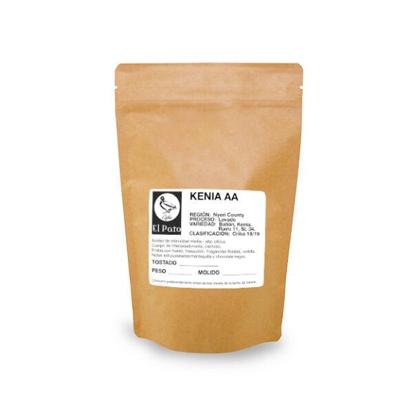 Paquete de Café Kenia AA - Cafés el Pato